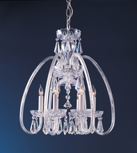 Crystorama 1015-PB-CL-MWP - Crystorama Traditional Crystal 6 Light Clear Crystal Brass Mini Chandelier