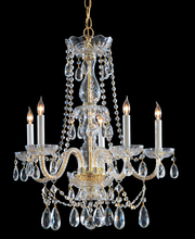 Crystorama 1125-PB-CL-MWP - Traditional Crystal 5 Light Crystal Brass Chandelier