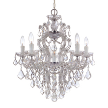 Crystorama 4435-CH-CL-MWP - Maria Theresa 6 Light Clear Crystal Chrome Chandelier