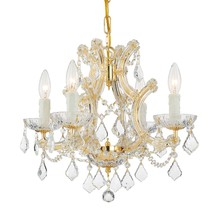 Crystorama 4474-GD-CL-MWP - Maria Theresa 4 Light Clear Crystal Gold Mini Chandelier