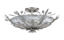 Crystorama 4704-SL - Primrose 6 Light Faceted Crystal Silver Ceiling Mount