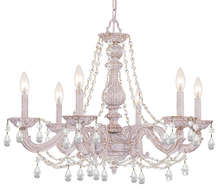 Crystorama 5026-AW-CL-I - Paris Market 6 Light Clear Italian Crystal White Chandelier