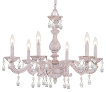 Crystorama 5036-AW-CL-MWP - Paris Market 6 Light Clear Crystal White Chandelier