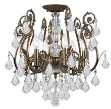 Crystorama 5115-EB-CL-MWP - Regis 6 Light Clear Hand Cut Crystal Ceiling Mount