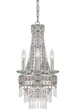 Crystorama 5263-OS-CL-MWP - Mercer 4 Light Olde Silver Mini Chandelier