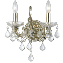 Crystorama 5282-OS-CL-S - Highland Park 2 Light Swarovski Olde Silver Sconce