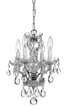 Crystorama 5534-CH-CL-S - Traditional Crystal Swarovski Strass 4 Light Chrome Mini Chandelier