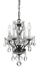 Crystorama 5534-EB-CL-S - Traditional Crystal Swarovski Strass 4 Light Chrome Mini Chandelier