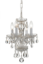 Crystorama 5534-WW-CL-S - Traditional Swarovski Strass Crystal 4 Light White Mini Chandelier