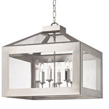 Crystorama 6056-PN - Brian Patrick Flynn for Crystorama Hurley 6 Light Polished Nickel Chandelier