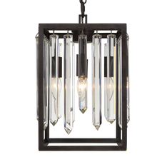 Crystorama 8414-FB - Hollis 4 Light Forged Bronze Chandelier