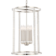 Crystorama 8859-PN - Carson 6 Light Polished Nickel Chandelier