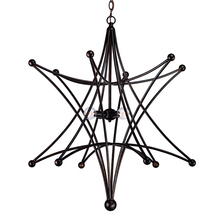 Crystorama 9236-EB - Astro 4 Light Bronze Star Chandelier