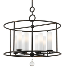 Crystorama 9266-EB - Cameron 8 Light Wrought Iron Chandelier
