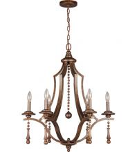 Crystorama 9356-EB - Parson 6 Light Bronze Chandelier