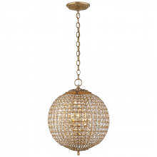 Visual Comfort ARN 5100G-CG - Renwick Small Sphere Chandelier in Gild with Cry