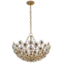 Visual Comfort ARN 5220G-CG - Claret Short Chandelier in Gild with Crystal