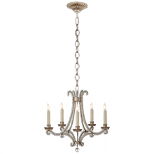 Visual Comfort CHC 1559BSL-CG - Oslo Mini Chandelier in Burnished Silver Leaf an