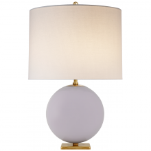 Visual Comfort KS 3014LLC-L - Elsie Table Lamp in Lilac with Linen Shade