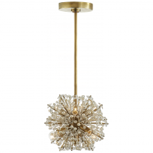 Visual Comfort KS 5003SB-CG - Dickinson Mini Chandelier in Soft Brass with Cle
