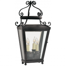Visual Comfort NW 2702FR-CG - Lafayette Medium 1/2 Wall Lantern in French Rust