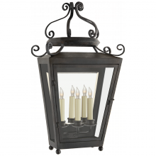 Visual Comfort NW 2707FR-CG - Lafayette Large 1/2 Sconce in French Rust with C