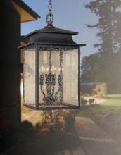 World Imports WI910842 - Sutton Collection 4-Light Rust Outdoor Hanging Lantern