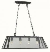 World Imports WI613488 - Bedford 4-Light Oiled Rubbed Bronze Glass Island Pendant