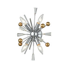 ELK Lighting 33250/4 - Williston 4-Light Wall Lamp in Polished Chrome with Satin Brass Balls