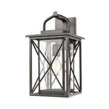 ELK Lighting 46751/1 - Carriage Light 1-Light Sconce in Matte Black with Seedy Glass